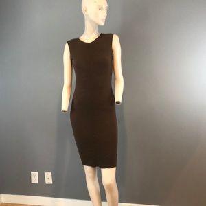 Akris Dresses - NWT A-K-R-I-S Brown Body Con Midi Dress Sz 6